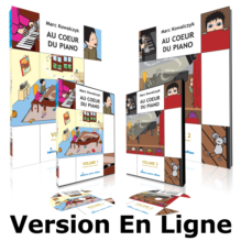 Methode de piano - Au Coeur du Piano (Version digitale, 48 cours et 136 videos)