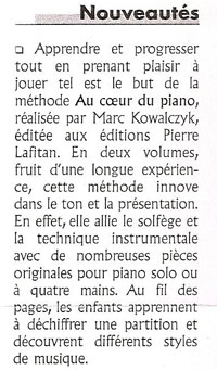 Article de presse de la méthode de piano dans Journal-de-la-CMF-514-octobre-2004-p-21