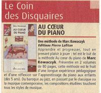 Article de presse de la méthode de piano dans Paris-Paname-1275-du-1er-decembre-2004-p-45