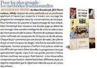 Article de presse de la méthode de piano dans Pianiste-33-juillet-aout-2005-p-32-33