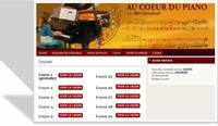 Accès au cour de piano en ligne - toutes les leçons de piano.