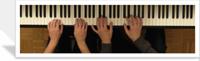 40 vidéos HD des leçons à 4 mains de la méthode de piano en ligne sur internet